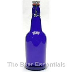 Flip top bottle in cobalt blue 16 oz. case of 12 (out of stock)