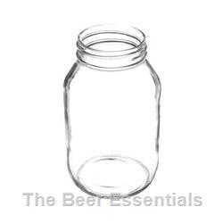 Quart jar with 70mm screw finish in a case of 12