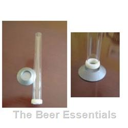 Hydrometer jar clear plastic with screw base