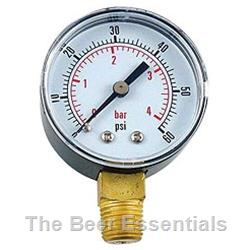 Pressure gauge 0-60 psi low pressure